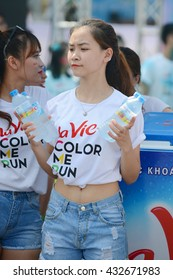 Beautiful moments on the track colors in Hanoi May 28, 2016. In Vietnam, Color Run is a series of events were held at the HOCHIMINH City, DANANG city and HANOI.