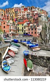 beautiful Monarola - colorful fishing village, Cinque terre
