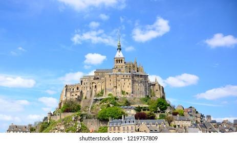 Beautiful Mont saint-Michel, Normandy, France.