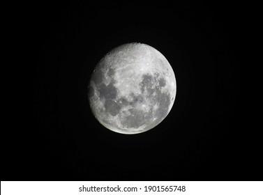 Beautiful moon isloated on black