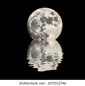 A beautiful Moon shot with a water reflection