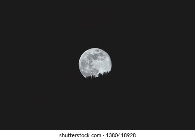 Beautiful moonshine and view to the crater of the moon