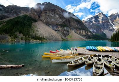 Beautiful Moraine Lake in Banff National Park, Alberta, Canada