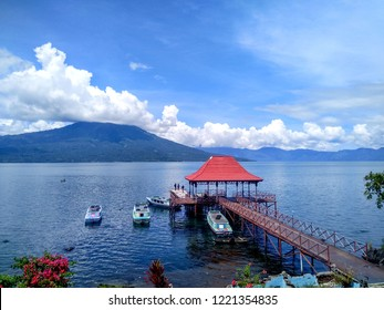 Beautiful Morning at Danau Ranau Resort, The Second Largest Lake in Sumatera