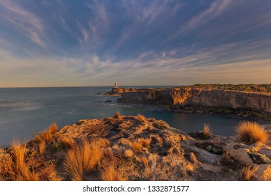 Beautiful morning light over Guichen Bay.Robe Obelisk in the distance.Robe,Limestone Coast,Guichen Bay,South Australia. - Shutterstock ID 1332871577