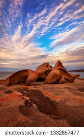 Beautiful morning light over the Remarkable Rocks. Flinders Chase National Park,Kangaroo Island,South Australia.