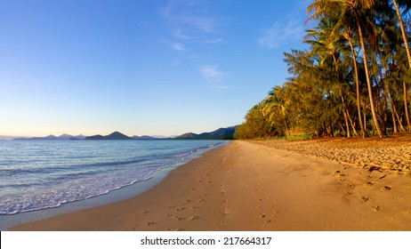 beautiful morning looking over the beach at palm cove Queensland Australia