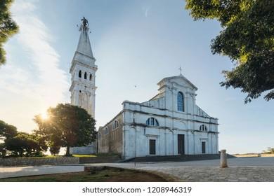 Beautiful morning over Cathedral of St. Euphemia, Rovinj, Croati
