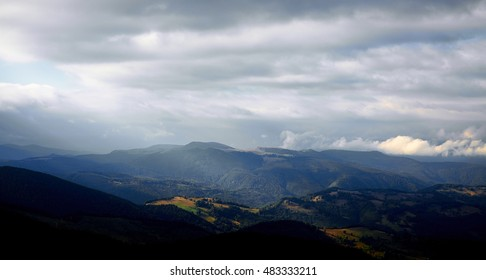 Beautiful morning in Parang mountains, Romania