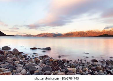 A beautiful morning and Sunrise across Loch Linnhe in Scotland, UK.