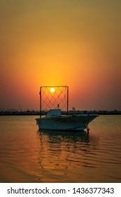 Beautiful morning sunrise at Dammam Corniche -Saudi Arabia