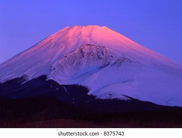The beautiful morning  sunshine at Mt, fuji