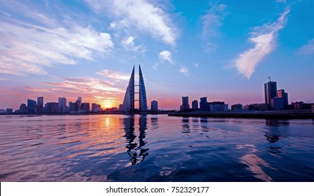 A beautiful morning view from Manama,Kingdom of Bahrain.