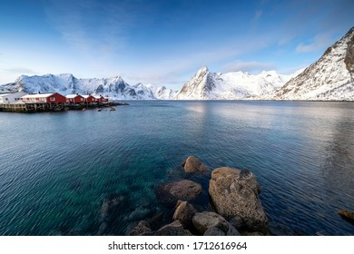 Beautiful morning view in Reine, Norway