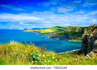 A beautiful morning walk in late July around Worth Matravers in Dorset south west England