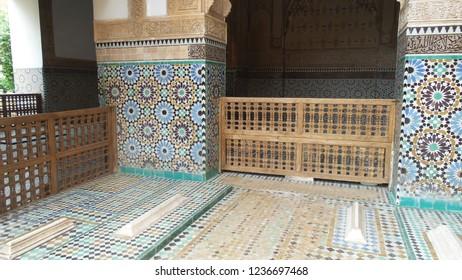 Beautiful moroccan mosaic in Marrakech