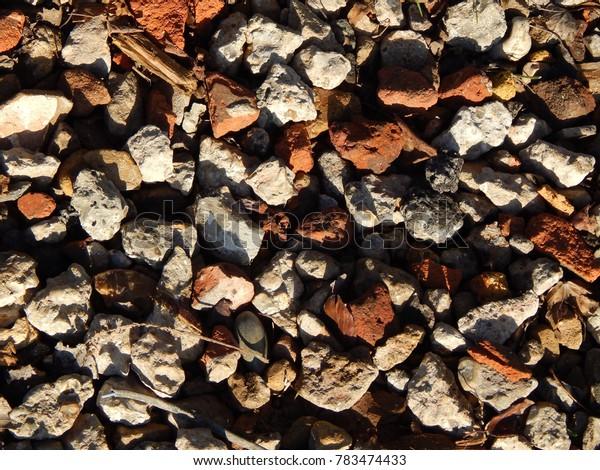 beautiful mosaic from pebbles