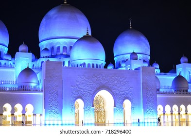 Beautiful mosque at night, Abu Dhabi, UAE