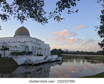 Beautiful Mosque with reflections in the morning