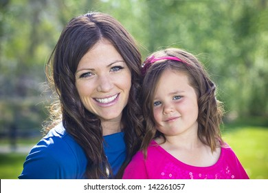 Beautiful Mother and Daughter Portrait