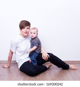 Beautiful mother and son