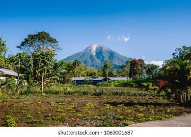 Beautiful mount Ebulobo volcano of Flores island indonesia