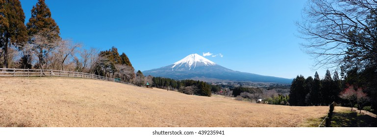 Beautiful Mount Fuji in panorama view