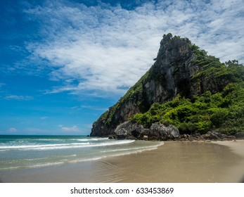 beautiful mountain and clean beach