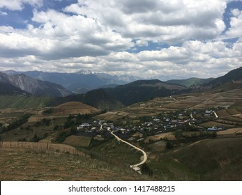 Beautiful mountain and with clear sky in China