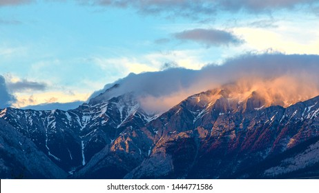 beautiful mountain with cloud in the sunset time