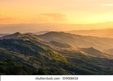 Beautiful mountain at Doi Chang ,Chiang Rai
