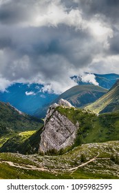 Beautiful mountain landscape. Alps montains in Bagolino, province of Brescia, Italy.
