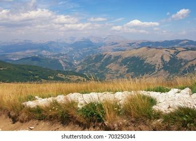 Beautiful mountain landscape. Balkans. Montenegro, Krnovo, near Niksic town