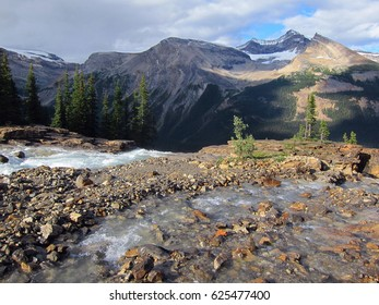 Beautiful mountain landscape in Canadian Rockies