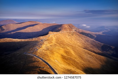 beautiful mountain landscape from the highest european road Transalpina , Romania