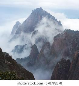 Beautiful mountain landscape in Huangshan - China