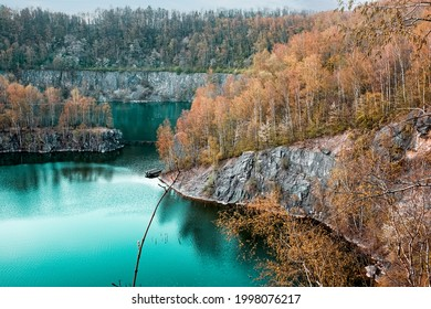 Beautiful mountain landscape with a lake in Germany
