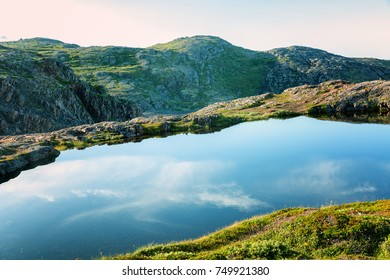 A beautiful mountain landscape, mountain lakes