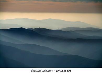beautiful mountain landscape, nature and wildlife photo