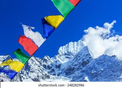 Beautiful mountain landscape in Nepal