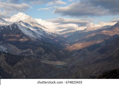 Beautiful mountain landscape in Nepal, Annapurna circuit