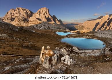Beautiful mountain landscape on Dolomites, Italy.