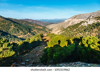 Beautiful mountain landscape of Sierra de las Nieves, Andalusia, Spain