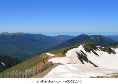 Beautiful mountain landscape at sunny day