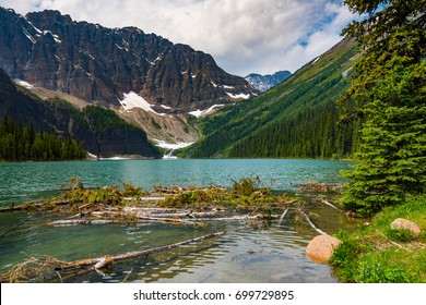 Beautiful mountain landscapes from hiking in the Taylor and O'Brien Lakes area of Banff National Parks Alberta  Canada