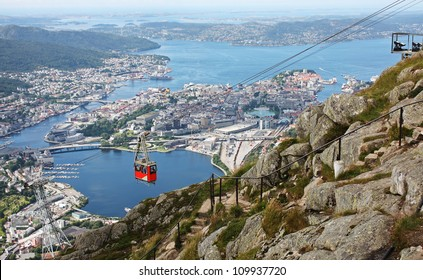 Beautiful mountain, Mount Ulriken, Bergen Norway