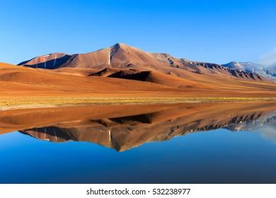 Beautiful mountain near the Vulcano Lascar in Atacama, Chile