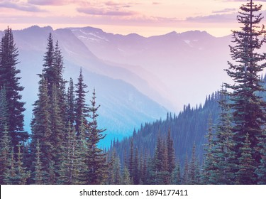 Beautiful mountain peak in  North Cascade Range, Washington,  USA - Shutterstock ID 1894177411