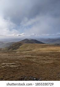 Beautiful mountain portrait, the Munro's of Scotland