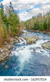 Beautiful Mountain River in Canada.